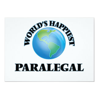 """El Paralegal más feliz del mundo Invitación 5"""" X 7"""""""