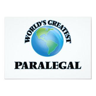 """El Paralegal más grande del mundo Invitación 5"""" X 7"""""""