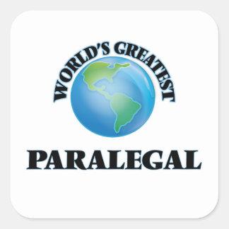 El Paralegal más grande del mundo Pegatina Cuadrada