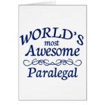 El Paralegal más impresionante del mundo Tarjeta De Felicitación