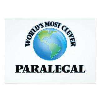 """El Paralegal más listo del mundo Invitación 5"""" X 7"""""""