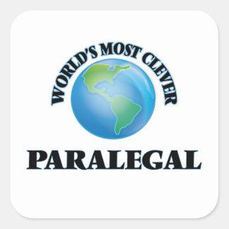 El Paralegal más listo del mundo Pegatina Cuadrada