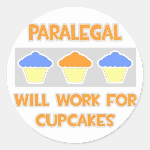 El Paralegal… trabajará para las magdalenas Pegatina Redonda