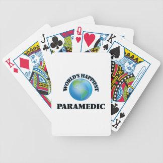 El paramédico más feliz del mundo baraja de cartas bicycle