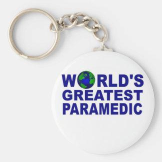El paramédico más grande del mundo llavero redondo tipo pin