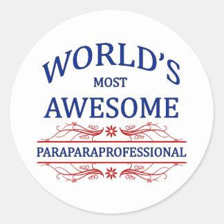 El Paraprofessional más impresionante del mundo Pegatina Redonda
