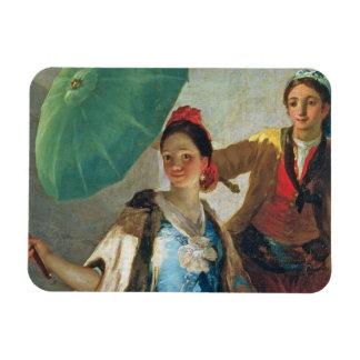 El parasol, 1777 (aceite en lona) imanes rectangulares