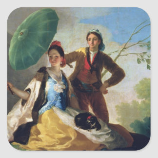 El parasol, 1777 pegatina cuadrada