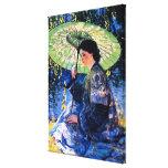 El parasol verde, una pintura subió individuo lona envuelta para galerias