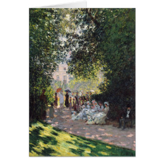 El Parc Monceau - Claude Monet Tarjeta De Felicitación