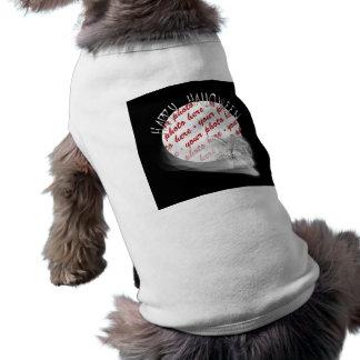 El parca monta otra vez el marco de la foto de Hal Playera Sin Mangas Para Perro