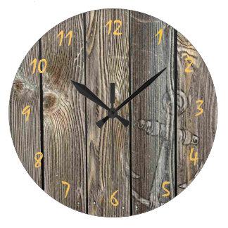 El parecer auténtico hermoso de madera - reloj red