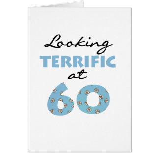 El parecer fabuloso 60 tarjeta de felicitación