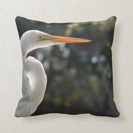 El parecer hecho excursionismo Egret blanco derech Cojin