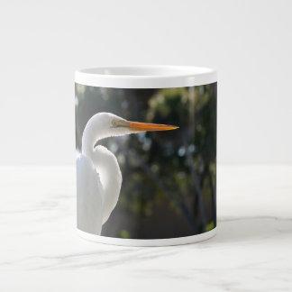 El parecer hecho excursionismo Egret blanco derech Taza Grande