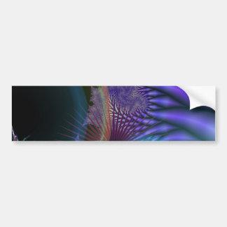 El parecer interno - misterio Amethyst y azul Etiqueta De Parachoque