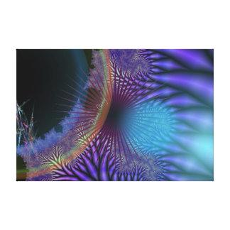 El parecer interno - misterio Amethyst y azul Impresión De Lienzo