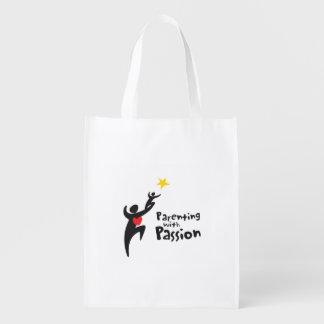 El Parenting con el bolso reutilizable de la pasió Bolsas Para La Compra