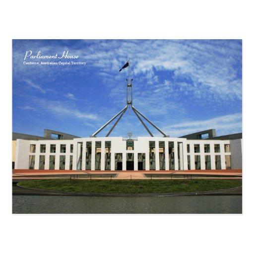 El parlamento australiano contiene la postal