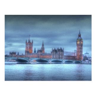 El parlamento británico en la postal de Londres