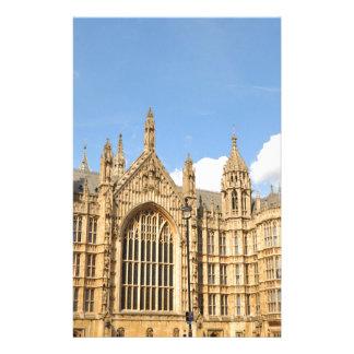 El parlamento británico  papeleria de diseño