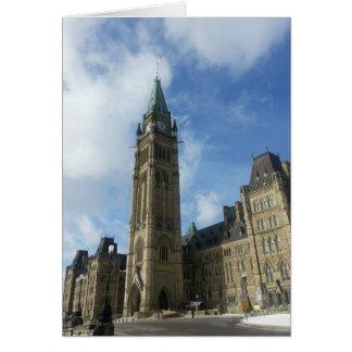 El parlamento canadiense en Ottawa Tarjeta