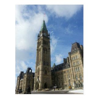 El parlamento canadiense en Ottawa Tarjeta Postal