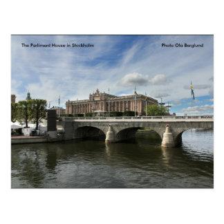 El parlamento contiene en Estocolmo… Tarjeta Postal