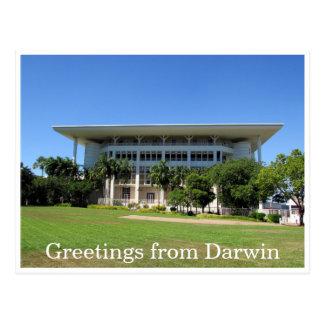 el parlamento de darwin postal