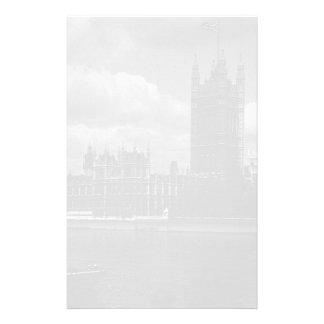 El parlamento de Inglaterra Londres del vintage Papeleria Personalizada
