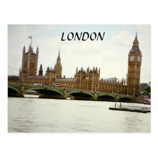El parlamento de Londres Big Ben y postal de