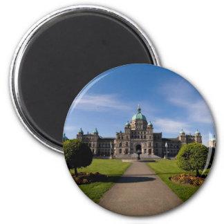 El parlamento de Victoria que construye 3 Imán Redondo 5 Cm