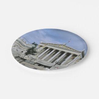 El parlamento de Viena Plato De Papel 17,78 Cm