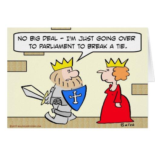 el parlamento del rey rompe la armadura de la espa tarjetón