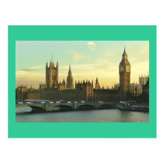 El parlamento del vintage postales