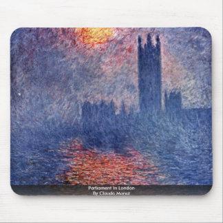 El parlamento en Londres de Claude Monet Alfombrilla De Ratones