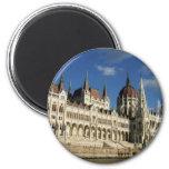 El parlamento húngaro imán redondo 5 cm