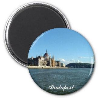 El parlamento húngaro y el Danubio Imán Redondo 5 Cm