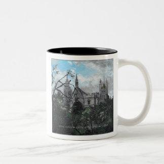El parlamento inglés taza de café de dos colores