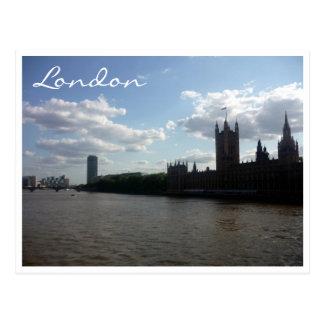 el parlamento Londres de thames Tarjetas Postales
