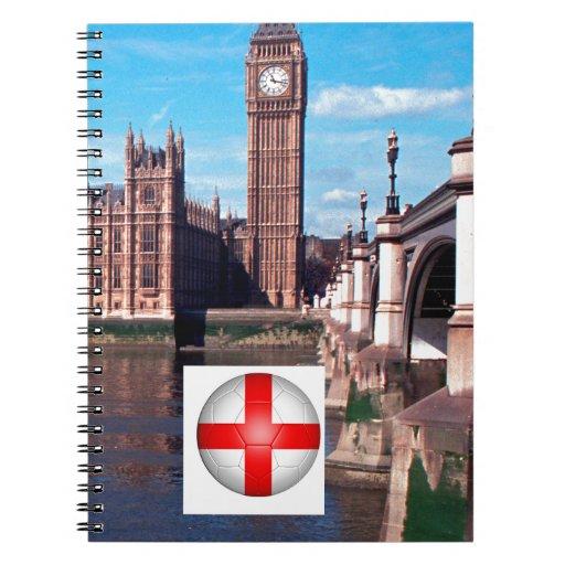 El parlamento, Londres, Inglaterra Libros De Apuntes Con Espiral