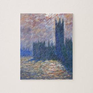 El parlamento, reflexiones en el Thames Claude Puzzle