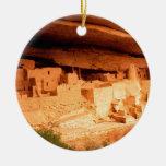El parque Anasazi arruina Mesa Verde Colorado Adorno Navideño Redondo De Cerámica