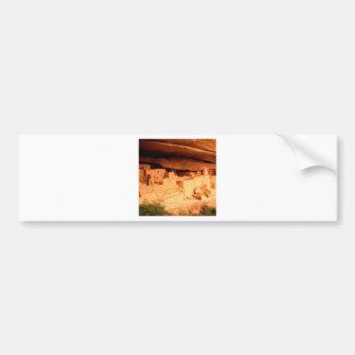 El parque Anasazi arruina Mesa Verde Colorado Pegatina De Parachoque