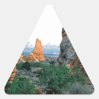 El parque arquea Utah Pegatina Triangular