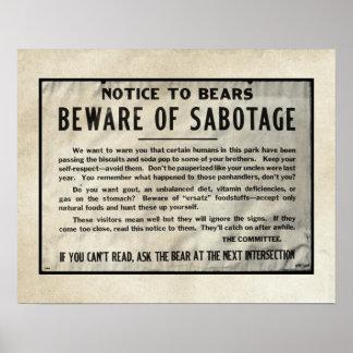 El parque chistoso del aviso lleva el vintage 1959 poster