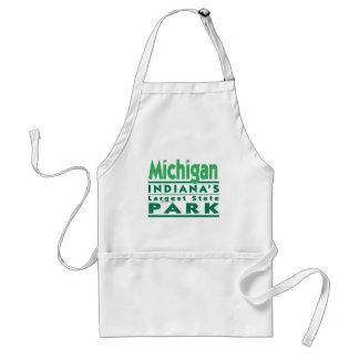 El parque de estado más grande de Michigan Indiana Delantal