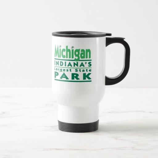 El parque de estado más grande de Michigan Indiana Tazas De Café