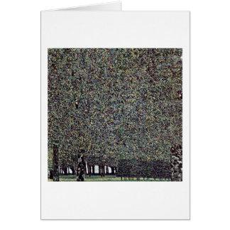 El parque de Gustavo Klimt Tarjeta De Felicitación