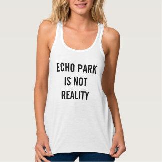 El parque del eco no es realidad - las camisetas playera de tirantes cruzados holgada